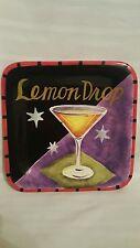 Jennifer Brinley Lemon Drop Salad Plate Certified International Happy Hour