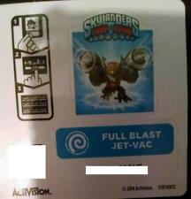 Full Blast Jet-Vac Skylanders Trap Team Sticker / Code Only!