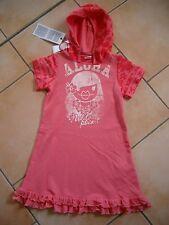 (C488) Nolita Pocket Girls Kleid mit Volants Kapuze Aloha & Logo Druck gr.98