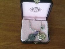 PENNINO Juicy Couture edizione Lungo Peltro & Oro Diamante Collana Con Ciondolo