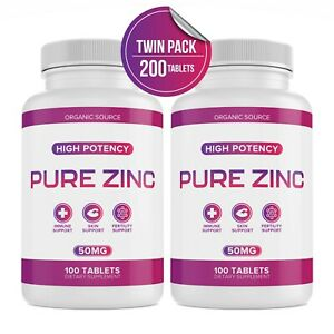 Vitamin Zinc 50 Mg Lot Of 2 (Total 200 Tablets) Ex 05/23 Immune Booster Support