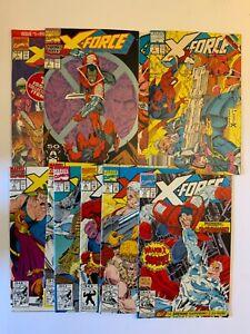 X-Force Lot #1-10 lot 1991 Liefeld Deadpool - I COMBINE SHIPPING