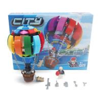 Bausteine Heißluftballon Menschen auf der ganzen Welt Gebäude DIY Kinder Modell