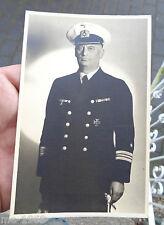 original Portrait  Foto  Offizier der Marine mit Dolch und EK I