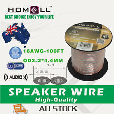 SW02C High Performance 100FT 18 AWG Audio Cable Speaker Wire With Plastic Roll