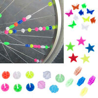 Children Kids Bicycle Bike Wheel Plastic Spoke Bead Clip Colored Decoration CHI