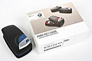 NEW OEM Genuine BMW F01 F02 F10 F30 F25 M Sport Leather Key Case Blue
