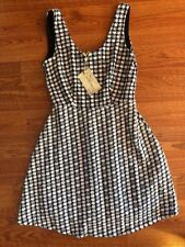 Modcloth H&m Black White Checker Dress Pin Up Girl Medium M