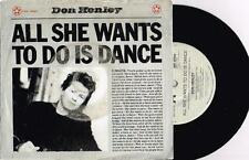 """DON HENLEY - ALL SHE WANTS TO DO IS DANCE - 7"""" 45 VINYL RECORD w PICT SLV 1984"""