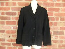 POSTIE FASHIONS AUS LADIES SIZE 12 BLACK WOOL RAYON JACKET TOP STYLISH HAS FAULT