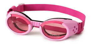 Dog Puppy Sunglasses UV - Doggles ILS - Dog Puppy Eye Protection - Pink XL