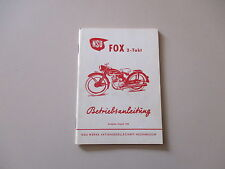 Notice d'instructions NSU FOX 123 ccm 2-Tact conducteur manuel 08.1954