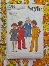 """STYLE 2098 sewing pattern CHECKED / COMPLETE 1977 vintage retro childs 24"""""""