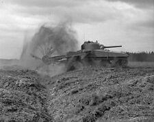 "Sherman Crab Flail Tank 79th Armoured Division 8""x 10"" World War II 2 Photo 460"