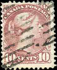 Canada #40 used F-VF 1877 Queen Victoria 10c lilac Small Queen CV$85.00