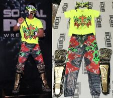 Juventud Guerrera 7x Signed Ring Worn Used Mask Pants Shirt Pads BAS COA WWE WCW
