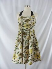 NWT Sportmax Code Cotton Floral Beaded Halter Dress Size 6 New with Tags $435