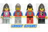 Lego Crusader Knights - Castle Minifigures classic FREE POST