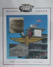 2001 Indianapolis Indy 500 Race Program 85th Annual Helio Castroneves 1st Win