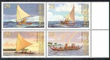 Micronesia 1993 Canoes/Boats/Transport/Sailing/Sail/Nautical 4v blk (n39917)