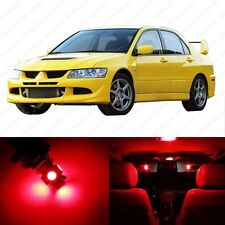 7 x Red LED Interior Lights Package For 2003 - 2006 Lancer Evolution Evo 8 9