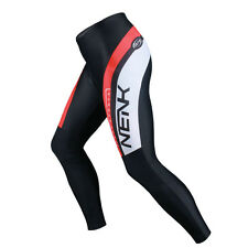 SOBIKE NENK Mens Cycling Bike Tights Pants Bicycle Riding Long Pants Black Red