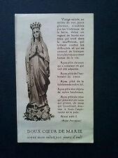 Image pieuse ancienne : Doux coeur de Marie, soyez mon salut, 1934