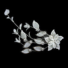 16cm Long Huge Flower Wedding Bridal Bridemaid Party Prom Crystal Hair comb Clip