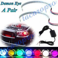 RGB Color LED Demon Eye bluetooth APP Control Halo Ring Headlight Projector Kit