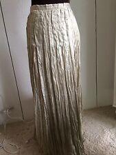 Soft Surroundings Light Gold Pleated Skirt XS