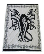 New Baby Quilt Angel Fairy Design Hand Stitched Coverlet With 100%Cotton Filled