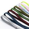 8mm Wide Fashion Double Colors Weaved Flat Shoelaces 1m Sports Shoe Laces