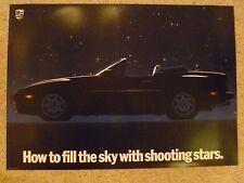 "1989 Porsche 944 S2 Cabriolet ""Shooting Stars"" Showroom Showroom Poster RARE!!"