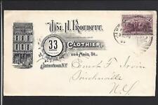 "JAMESTOWN,NEW YORK, 1894,COLUMBIAN ILLUST AD COVER, WM. H. ROUDITT,""CLOTHIER""."