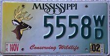 GENUINE American Mississippi Conserving Wildlife Deer License Number Plate 5558