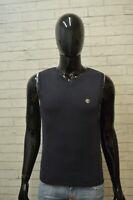 Maglione Blu Uomo TIMBERLAND Pullover Taglia M Sweater Cardigan Felpa Cotone