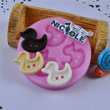 Nicole Cute Duck Shaped Fondant Cake Decorating Tools Resin Clay Silicone Molds