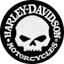 Harley-Davidson 10 x 10 cm Crâne Patch Brodé - Noir/Blanc