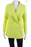 Lioness Womens Don Double Breasted Blazer Jacket Lime Green Size S