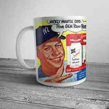 Vintage GEM Razor Comic Book Ad Mickey Mantle ASR Advertisement NEW Coffee Mug