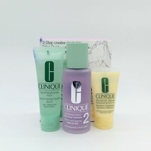 Clinique 3-step Set Dry Combination Skin Type 2 Set - NEW - Damaged Box