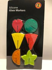 12pcs Silicone Cup Wine Glass Markers Labels Glasses Marker Drinking Label Fruit