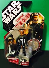 TYCHO CELCHU (A-Wing Pilot) #44 Star Wars Hasbro Action Figure w/ Coin NEW RARE