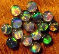 16 OPAL TRIPLET CABOCHONS FOR STUDS OR EARRINGS 16 of 3mm diameter A+ grade