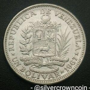 Venezuela 1 Bolivar 1967(l). Y#42. One Dollar coin. London mint. One year issue.