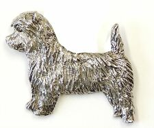 Cairn Terrier  Brooch, Silver Finish