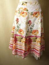 New BNWT Derhy Skirt Bedouin Pretty Floral Cotton Size Medium Knee Length