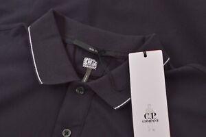C.P. Company NWT Long Sleeve Polo Shirt Size L In Dark Blue Cotton Blend Slim
