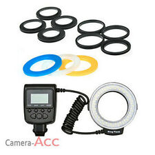 Macro 48 LED Ring Flash fit for Canon Nikon DSLR Camera UK fast delivery