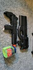 Used Electric Airsoft Lot: FN P90 and Mini Uzi With Foldable Stock and pellets
